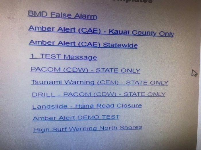 Hawaii Emergency Alert System
